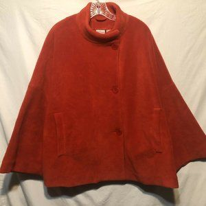 Newport News Easy Style Womens Coat Size L Red PM4